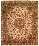 RugStudio presents Kalaty Tabriz Tr-550 Ivory/Green Hand-Knotted, Best Quality Area Rug