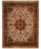 RugStudio presents Kalaty Tabriz Tr-551 Ivory/Burgundy Hand-Knotted, Best Quality Area Rug