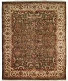 RugStudio presents Kalaty Tabriz Tr-555 Green/Ivory Hand-Knotted, Best Quality Area Rug