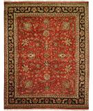 RugStudio presents Kalaty Tabriz Tr-557 Rust/Black Hand-Knotted, Best Quality Area Rug