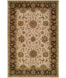 RugStudio presents Kalaty Empire EM-292 Ivory/Brown Hand-Tufted, Best Quality Area Rug