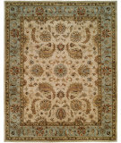 RugStudio presents Kalaty Empire EM-294 Ivory / Light Blue Hand-Tufted, Best Quality Area Rug