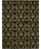RugStudio presents Famous Maker Grimani 100680 MIDNIGHT BLACK Hand-Knotted, Good Quality Area Rug