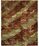 RugStudio presents Famous Maker Madson 100371 Scarlet/Sand Hand-Tufted, Good Quality Area Rug