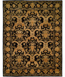 RugStudio presents Famous Maker Royen 100866 Black Hand-Knotted, Best Quality Area Rug