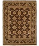 RugStudio presents Famous Maker Sienna 100235 Chocolate Hand-Knotted, Better Quality Area Rug