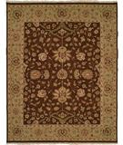 RugStudio presents Famous Maker Sienna 100236 Chocolate Hand-Knotted, Better Quality Area Rug