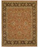RugStudio presents Famous Maker Sienna 100245 Orange Hand-Knotted, Better Quality Area Rug