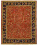 RugStudio presents Famous Maker Soumak 260 Orange Flat-Woven Area Rug