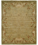 RugStudio presents Famous Maker Tuslon 100604 Green Hand-Knotted, Best Quality Area Rug