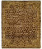 RugStudio presents Famous Maker Tuslon 100606 Chocolate Hand-Knotted, Best Quality Area Rug
