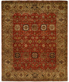RugStudio presents Famous Maker Tahone 100375 Red Hand-Knotted, Best Quality Area Rug