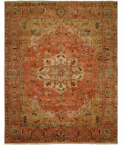 RugStudio presents Famous Maker Tahone 100382 Orange Hand-Knotted, Best Quality Area Rug