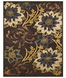 RugStudio presents RugStudio Contempo 44676 Dark Chocolate Teal Machine Woven, Good Quality Area Rug