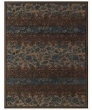 RugStudio presents RugStudio Contempo 44679 Coffee teal Machine Woven, Good Quality Area Rug