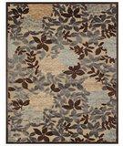 RugStudio presents Famous Maker Stephan 44657 Ivory-Dark Grey Machine Woven, Good Quality Area Rug