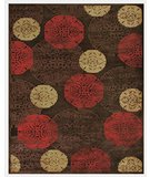 RugStudio presents Famous Maker Stephan 44665 Dark Chocolate Machine Woven, Good Quality Area Rug