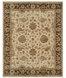 RugStudio presents Feizy Drake 6049f Ivory/Brown Hand-Knotted, Best Quality Area Rug