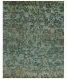 RugStudio presents Feizy Verdigris 7159f Blue/Multi Hand-Knotted, Best Quality Area Rug
