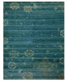 RugStudio presents Feizy Qing 6064f Teal Hand-Knotted, Best Quality Area Rug