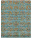 RugStudio presents Feizy Qing 6065f Teal Hand-Knotted, Best Quality Area Rug
