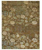 RugStudio presents Feizy Qing 6068f Ochre Hand-Knotted, Best Quality Area Rug