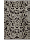 RugStudio presents Feizy Saphir 3788f Black / Silver Machine Woven, Good Quality Area Rug