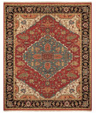 RugStudio presents Rugstudio Sample Sale 99830R Red/Black Hand-Knotted, Best Quality Area Rug