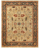 RugStudio presents Feizy Ustad 6109f Camel/Black Hand-Knotted, Good Quality Area Rug