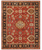 RugStudio presents Feizy Ustad 6110f Red/Black Hand-Knotted, Good Quality Area Rug