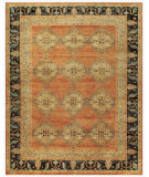 RugStudio presents Feizy Ustad 6111f Rust/Charcoal Hand-Knotted, Good Quality Area Rug