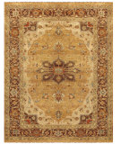 RugStudio presents Feizy Ustad 6112f Gold/Brown Hand-Knotted, Good Quality Area Rug