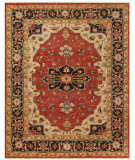 RugStudio presents Feizy Ustad 6112f Red/Black Hand-Knotted, Good Quality Area Rug