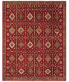 RugStudio presents Feizy Ashi 6129f Red Hand-Knotted, Good Quality Area Rug