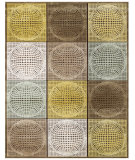 RugStudio presents Feizy Saphir Mah 3103f Dark Chocolate / Ecru Machine Woven, Good Quality Area Rug