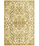 RugStudio presents Feizy Saphir Mah 3109f Cream / Spa Blue Machine Woven, Good Quality Area Rug