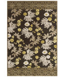 RugStudio presents Feizy Saphir Mah 3114f Dark Gray / Green Machine Woven, Good Quality Area Rug