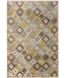RugStudio presents Feizy Saphir Mah 3200f Dark Chocolate / Sage Machine Woven, Good Quality Area Rug