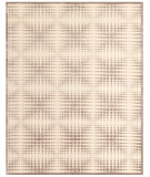 RugStudio presents Feizy Saphir Zam 3116f Cream/Gray Machine Woven, Good Quality Area Rug