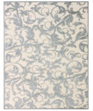RugStudio presents Feizy Saphir Zam 3203f Cream / Silver Machine Woven, Good Quality Area Rug