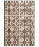 RugStudio presents Feizy Saphir Obzeet 3258f Cream/Gray Machine Woven, Good Quality Area Rug