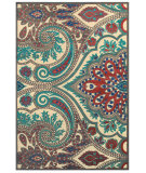 RugStudio presents Feizy Saphir Obzeet 3271f Cream / Nutmeg Machine Woven, Good Quality Area Rug