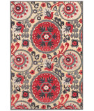 RugStudio presents Feizy Saphir Obzeet 3272f Cream / Nutmeg Machine Woven, Good Quality Area Rug