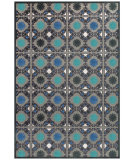 RugStudio presents Feizy Saphir Callo 3258f Gray / Teal Machine Woven, Good Quality Area Rug