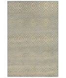 RugStudio presents Feizy Saphir Callo 3261f Cream / Silver Machine Woven, Good Quality Area Rug