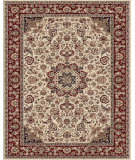 RugStudio presents Feizy Daria 3980f Cream/Red Machine Woven, Best Quality Area Rug