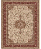 RugStudio presents Feizy Daria 3983f Cream/Red Machine Woven, Best Quality Area Rug