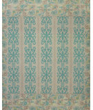 RugStudio presents Feizy Tamar 0652f Teal / Green Hand-Knotted, Best Quality Area Rug