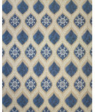 RugStudio presents Feizy Tamar 0653f Tan / Blue Hand-Knotted, Best Quality Area Rug