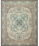 RugStudio presents Feizy Tamar 0654f Gray / Teal Hand-Knotted, Best Quality Area Rug